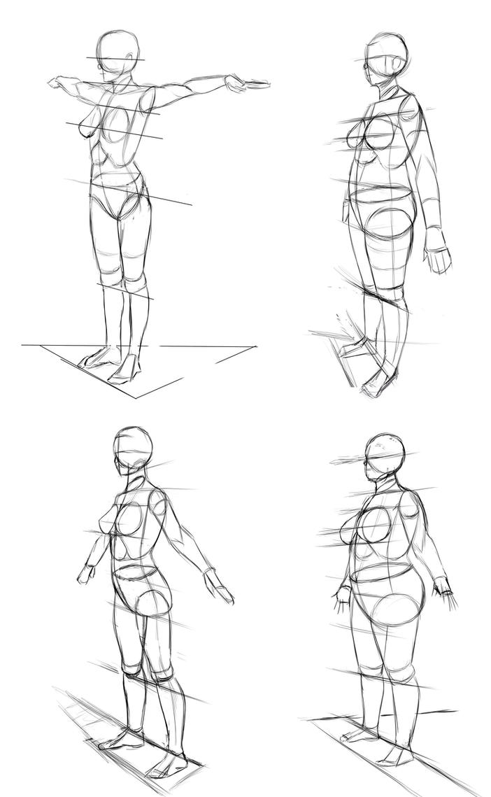 how to draw human characters