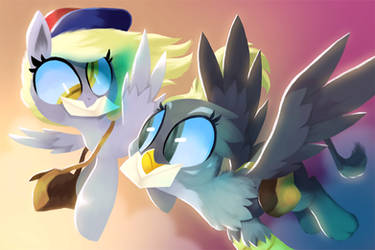 Derpy and Gabby by TalonsofIceandFire