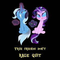 Friendship Gaming, or True Friends Don't Rage Quit by TalonsofIceandFire
