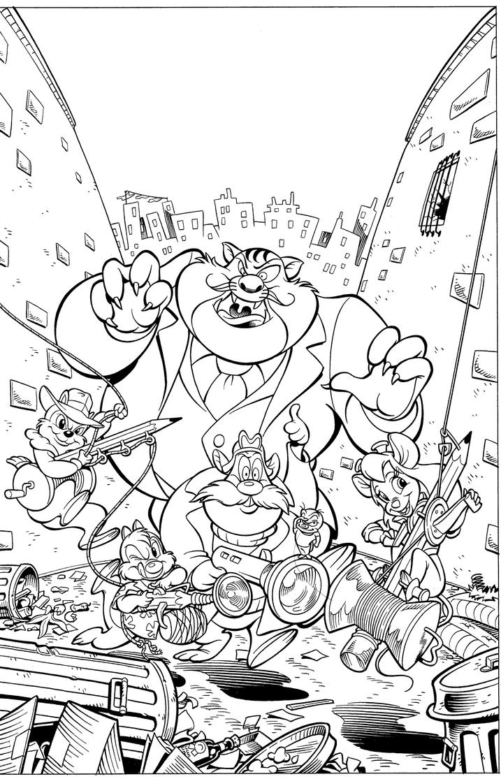 Chip 39 n 39 dale cover by sky boy on deviantart for Chip n dale coloring pages