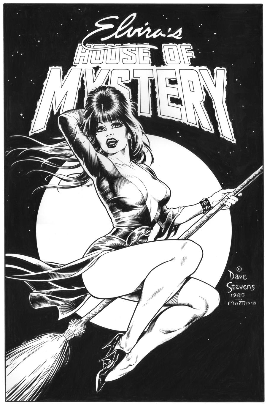 Dave Stevens Elvira cover recreation by SKY-BOY