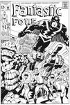 JACK KIRBY Fantastic Four 82 cover recreation