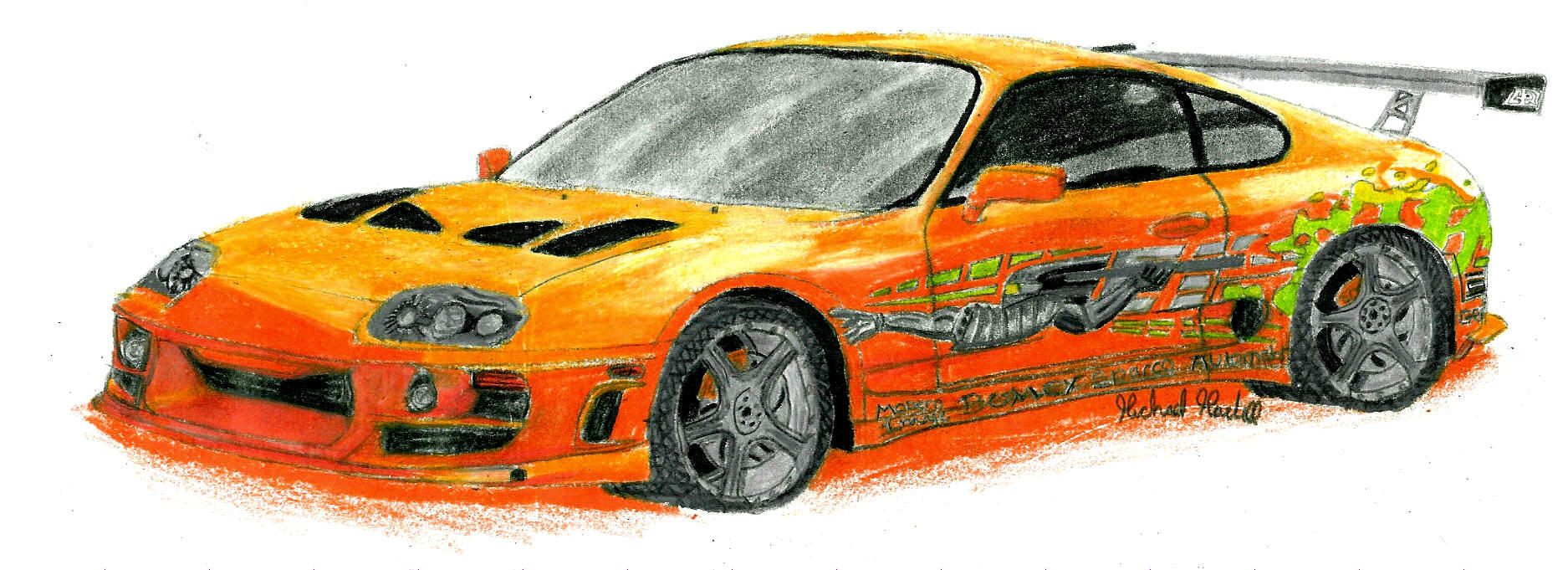 Fast And Furious Cars Drawings 9310 | MOVIEWEB