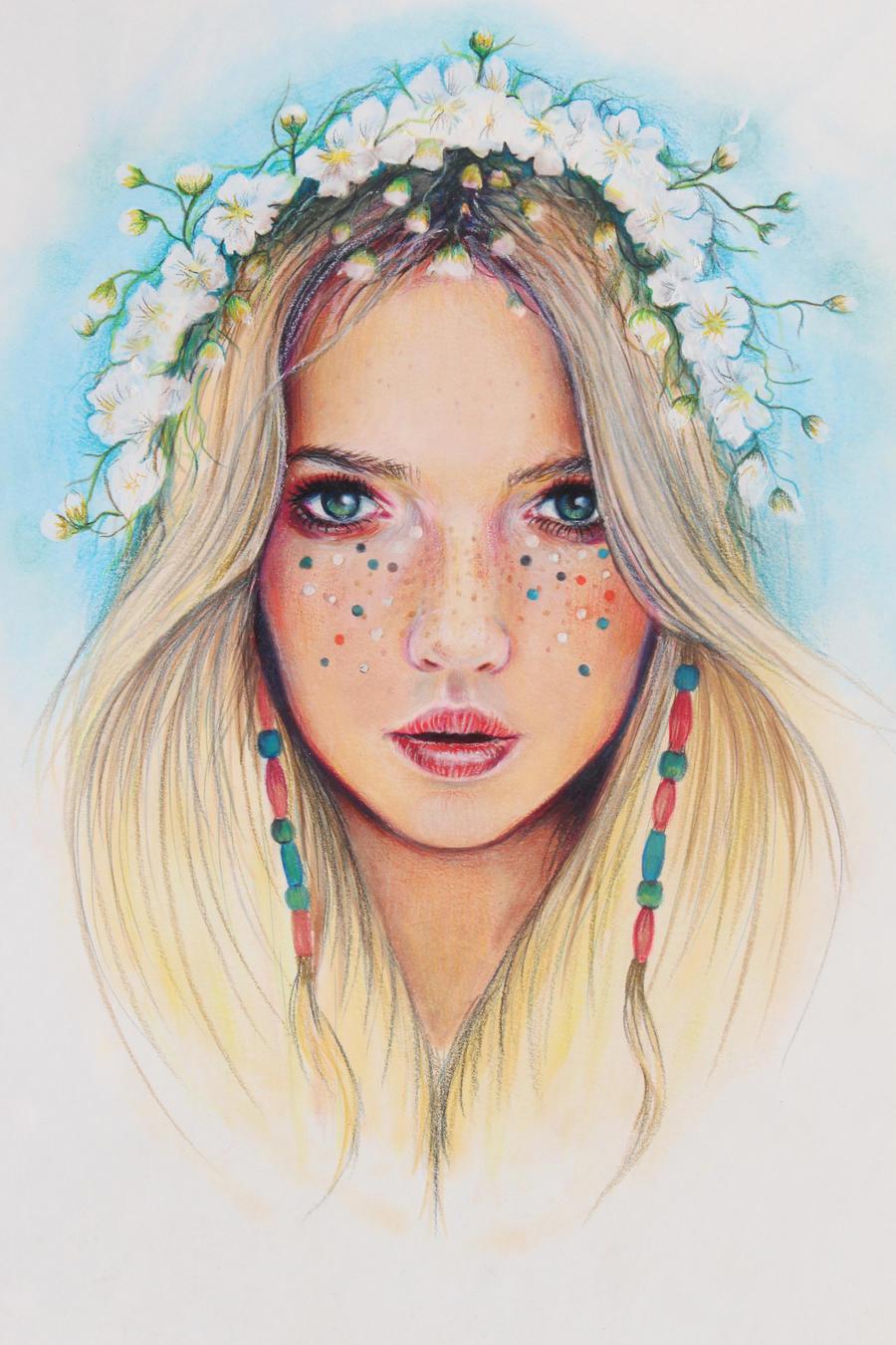 Hippie Chick by JoanneBarby on DeviantArt
