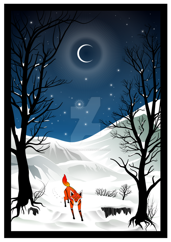 Fox in the Snow by SandyMackenzie