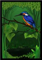 Kingfisher in Summer by SandyMackenzie