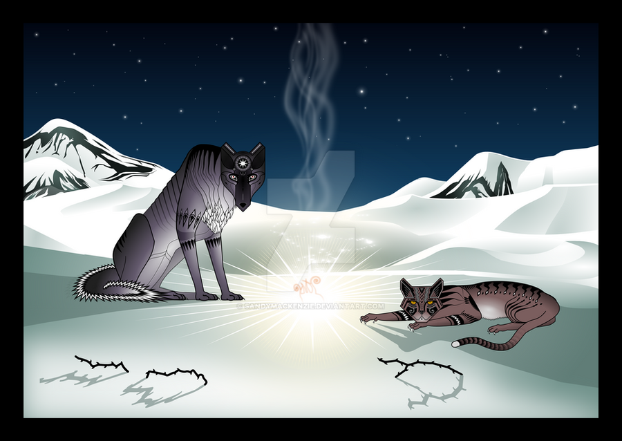 Wolf, Cat and the Sky-thing by SandyMackenzie
