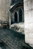 Old Church Windows by ThePurpleYard-Stock