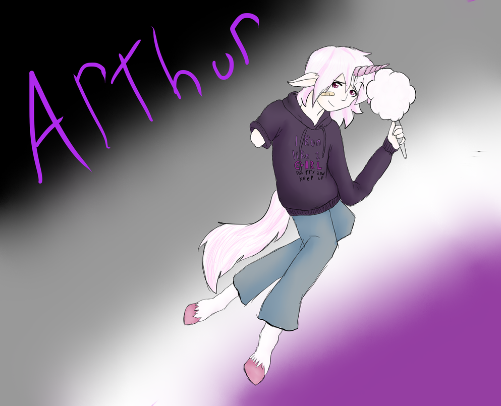 Arthur the asexual unicorn  by vulpix15
