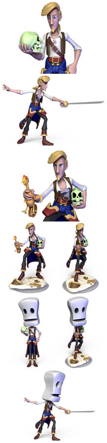Additional Guybrush poses
