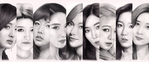 Girls' Generation portrait series