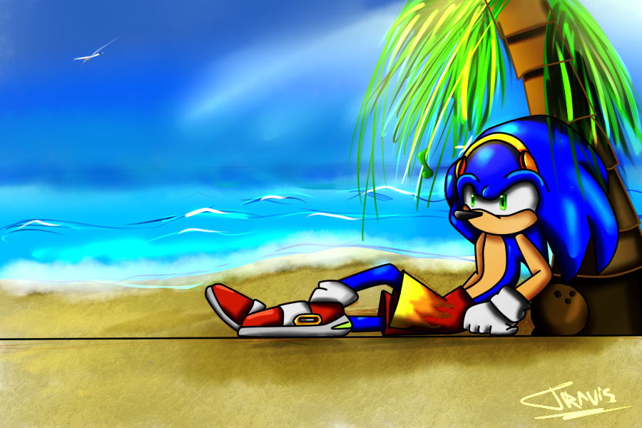Chilling the Beach by ReshiDaVanci