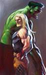 Thor e Hulk colorido