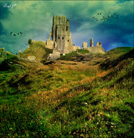 Castle on the hilltop by satyaaa