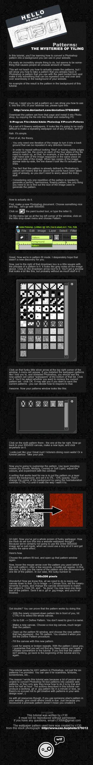 Pattern Tutorial by C130