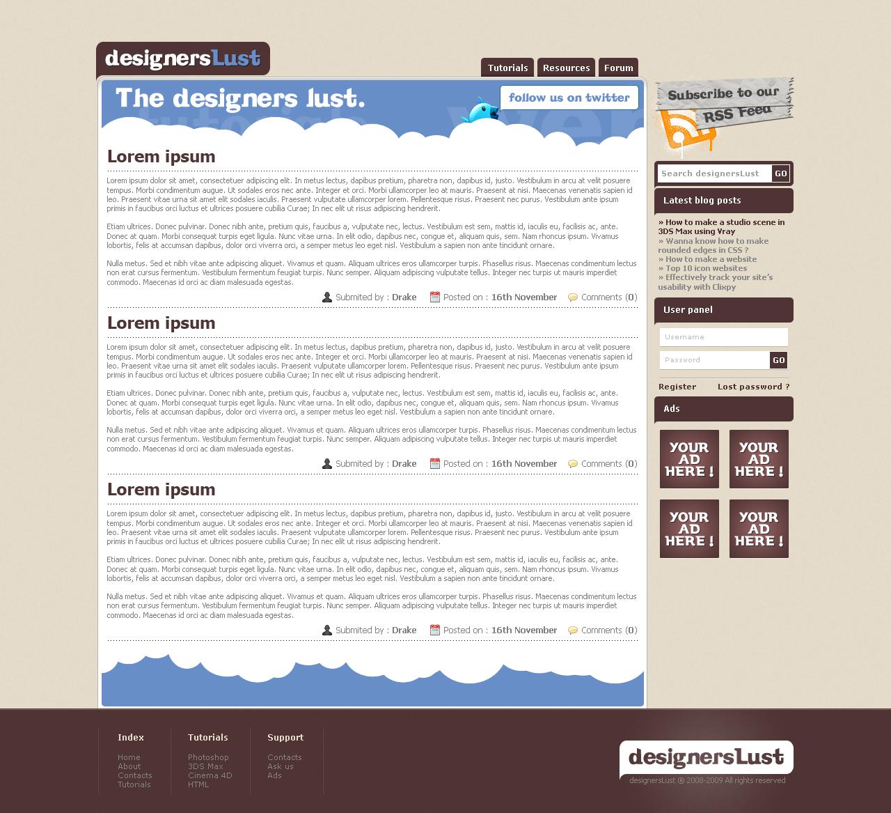 designersLust Website Design by TheDrake92