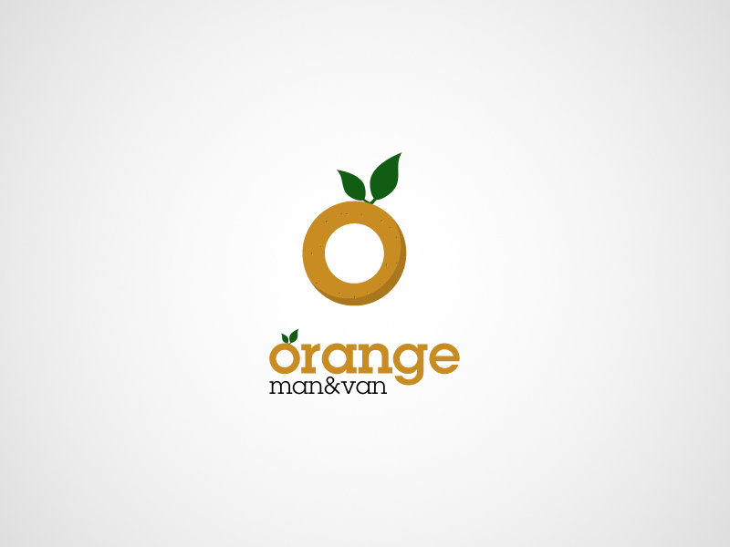 Orange Man and Van Logo by TheDrake92
