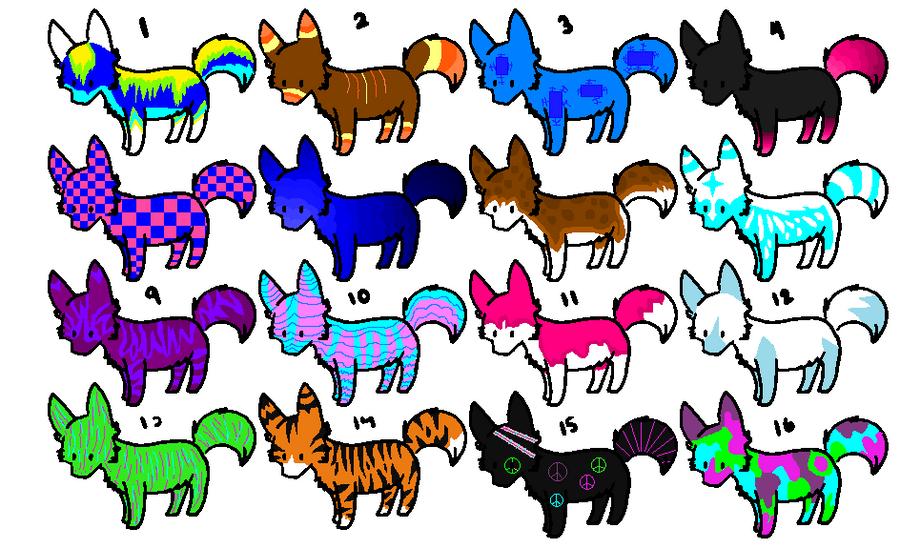 Chibi Wolf Base Chibi Wolf Adoptables by