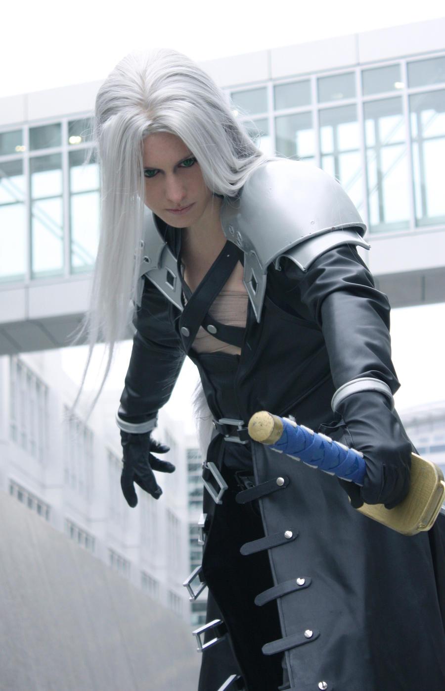 Final Fantasy Sephiroth Cosplay Sephiroth - Solid Silv...