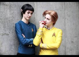 Star Trek - heads on a science apart by NanjoKoji