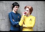 Star Trek - heads on a science apart