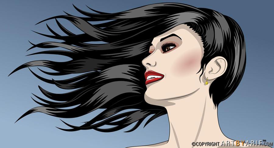 Beautiful Girl On a Windy Day by arif-rocks