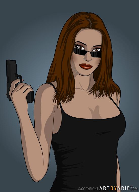 Secret Agent Girl by arif-rocks