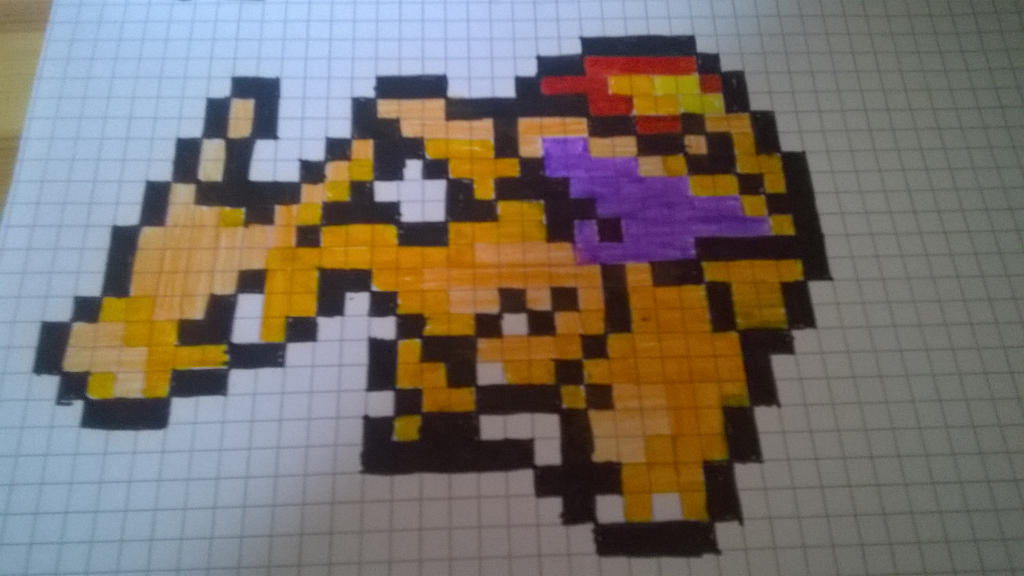 Dracaufeu Pixel Art By Dark Luxray On Deviantart