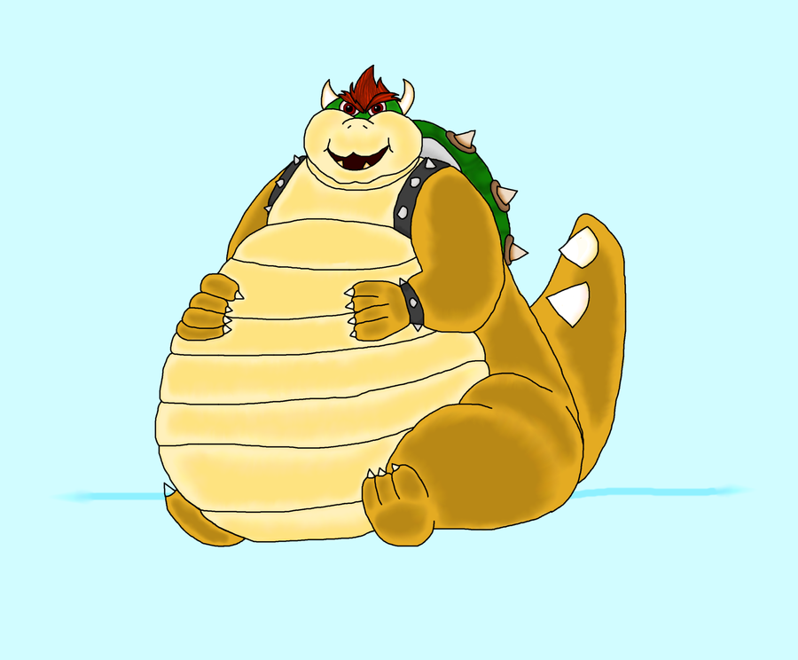 Bowser's Weight Gain by HelixGamer