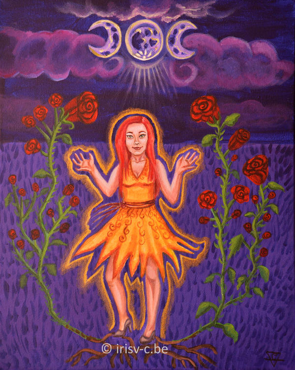 The rose wiccan