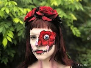 Rose skull Halloween