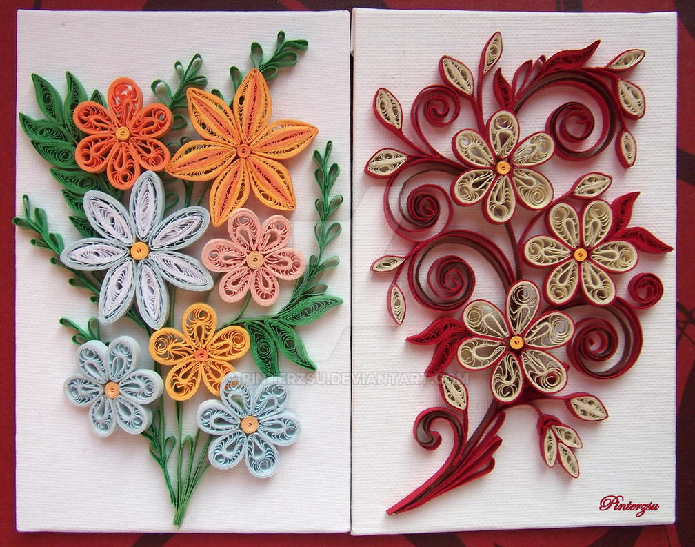 Quilled flowers by pinterzsu on deviantart - Paper quilling art wallpapers ...