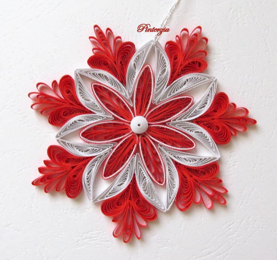 Quilled snowflake by pinterzsu on deviantart for Big quilling designs