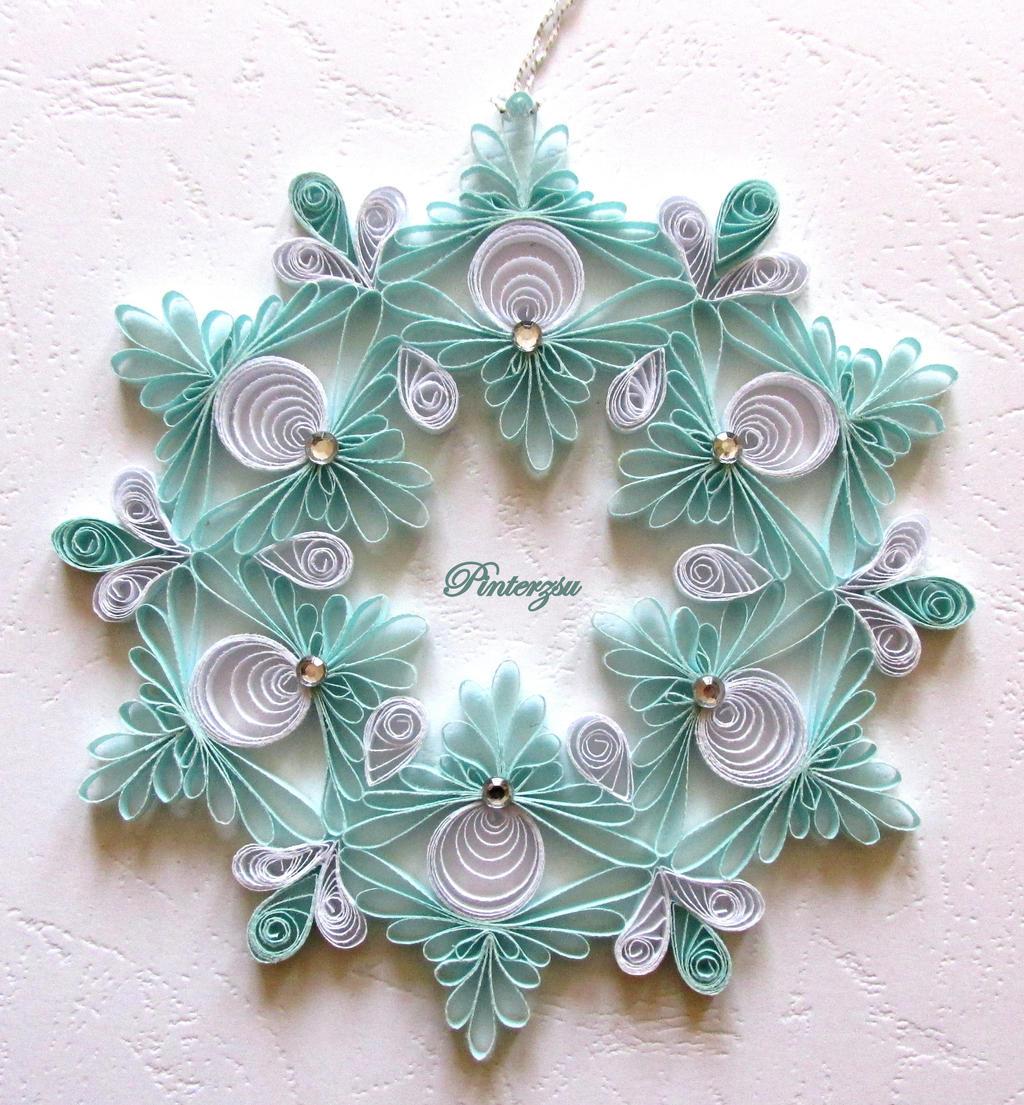 Quilled Snowflake By Pinterzsu On Deviantart border=