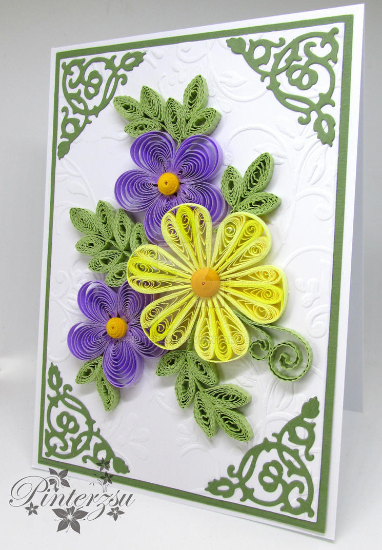 Quilled greeting card by pinterzsu on deviantart quilled greeting card by pinterzsu m4hsunfo