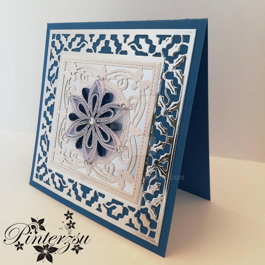 Quilled Christmas card by pinterzsu