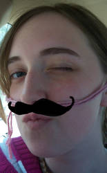 My Awesome-stache by wheretearsrunblack