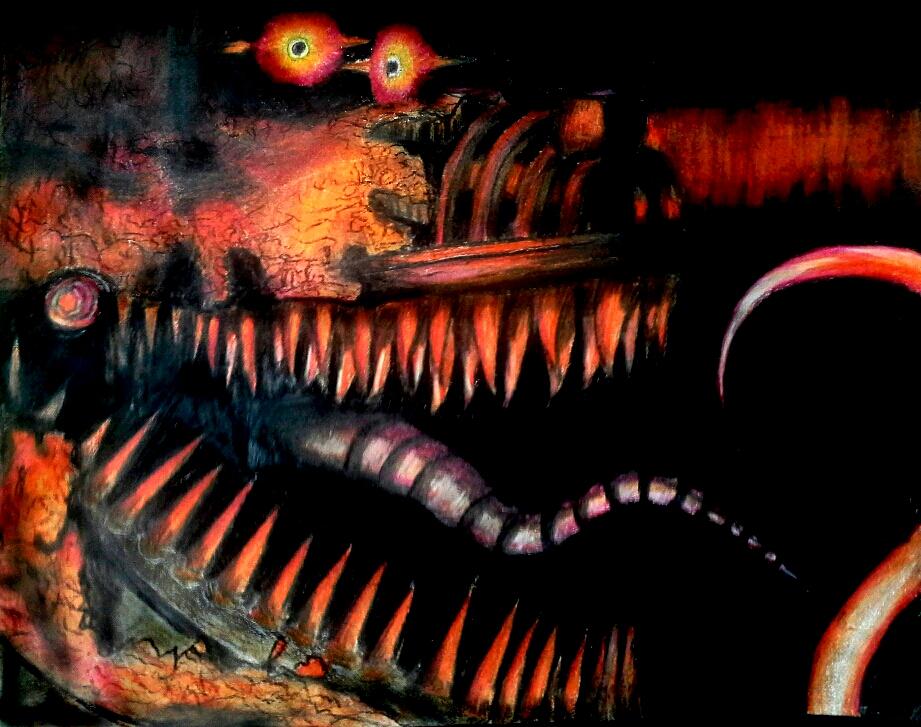 Nightmare Foxy Color Pencil By Michaelnava715 On DeviantArt
