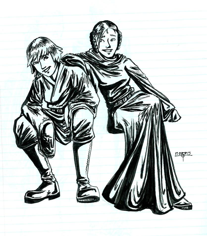 star wars luke and leia relationship help