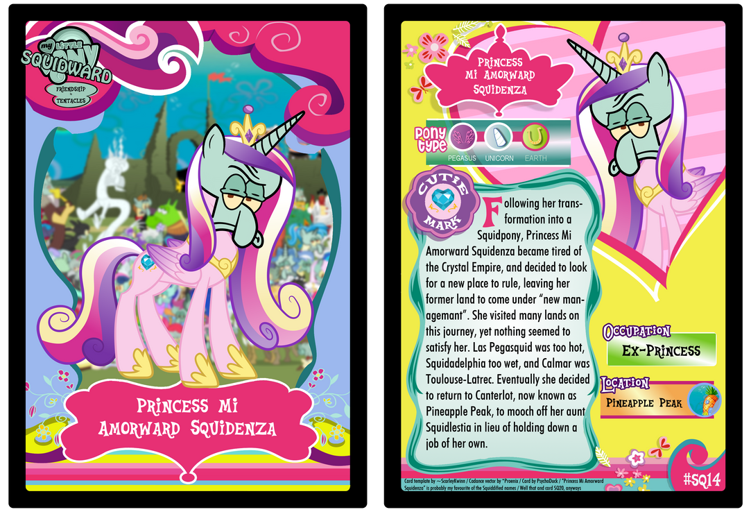 SQ14 - Princess Mi Amorward Squidenza by PsychoDuck21