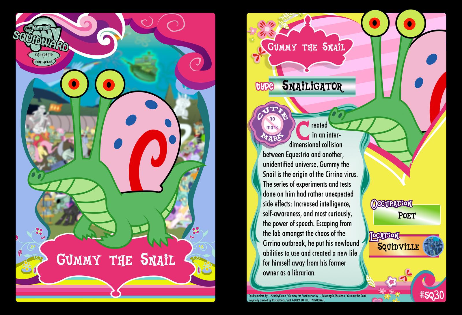 SQ30 - Gummy the Snail by PsychoDuck21
