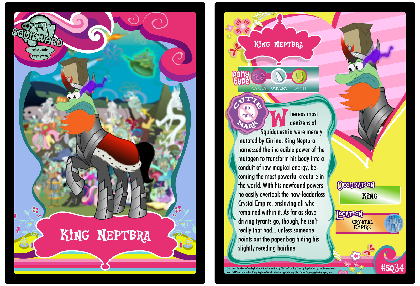 SQ34 - King Neptbra by PsychoDuck21
