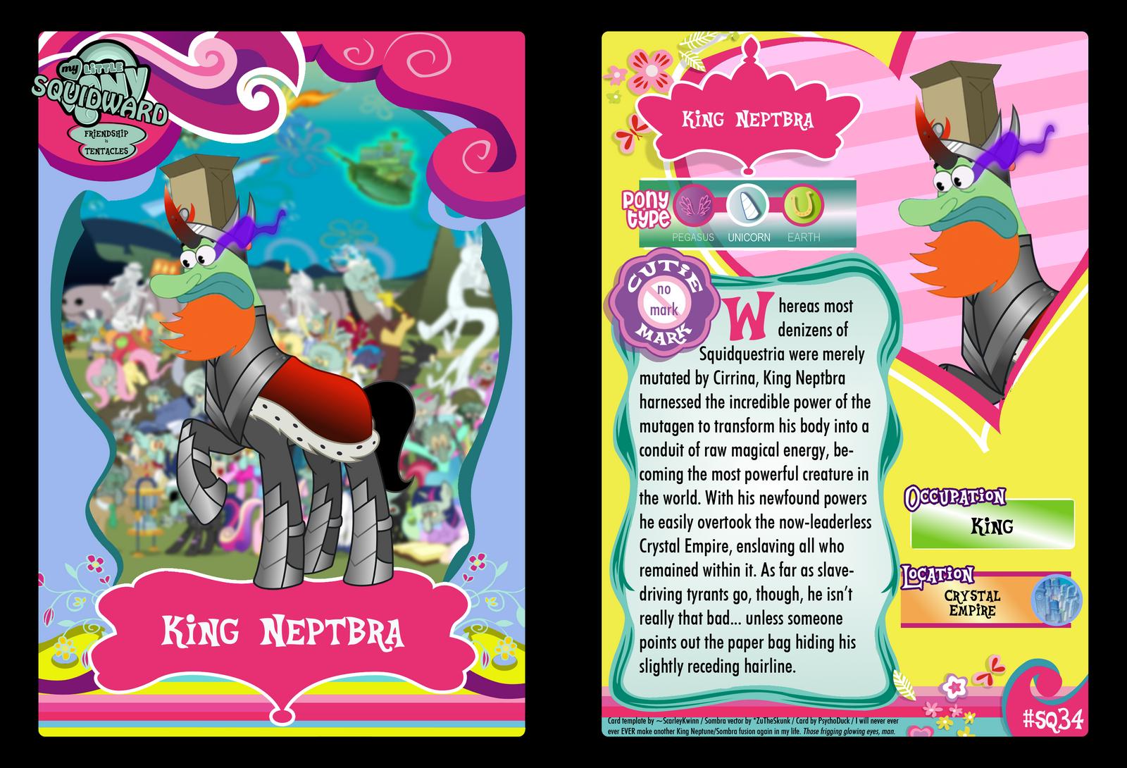 SQ34 - King Neptbra by PsychoDuck21