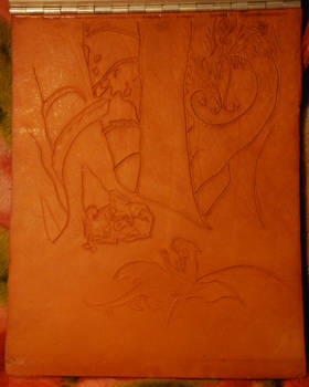 Leather carving Work In Progress