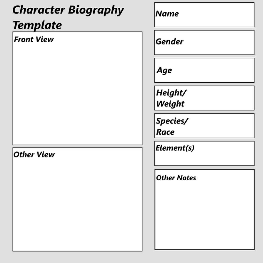 Character Biography Template by Sandstormer on DeviantArt PnKWAcdr
