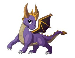 Spyro the Dragon by Sandstormer