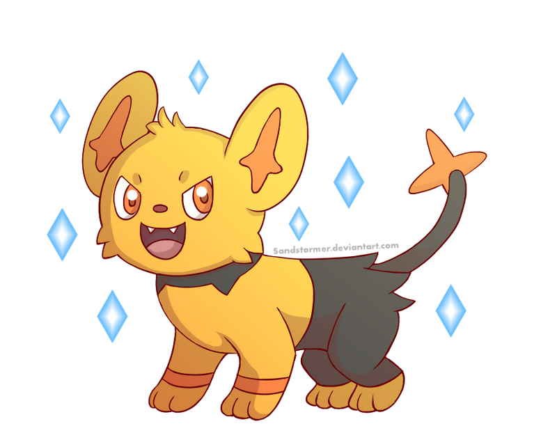 Shiny Shinx by Sandstormer on DeviantArt
