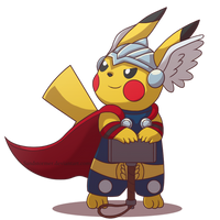 Commission: Thor the Pikachu