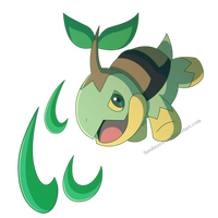 Turtwig-Razor Leaf by Sandstormer