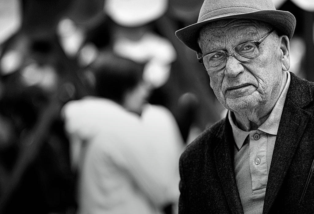 Old man with hat by PancolartJorge